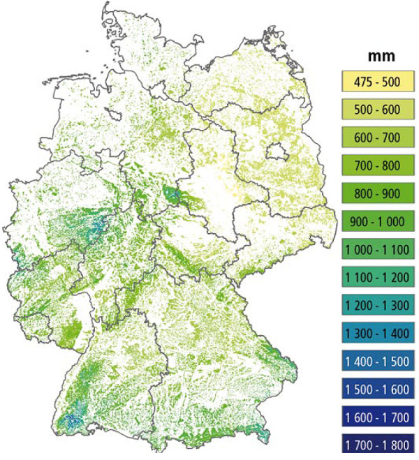 Klimatische Baumarteneignung